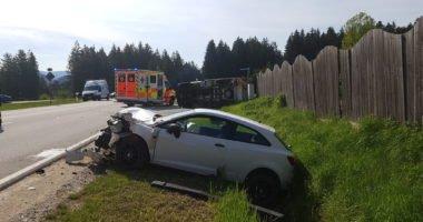 24.05.19 Verkehrsunfall auf der B85 bei der Weißensteiner Au