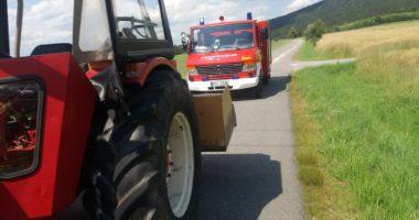 THL 1: lange Ölspur die 2. – Einsatz für mehrere Feuerwehren