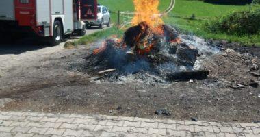 B1: Brand im Freien; Alarm für FF Mitterbichl und Kirchberg