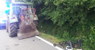 THL 1: Fahrradfahrer hat schweren Unfall/Großloitzenried