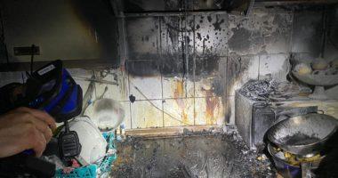 B 3: Küchenbrand in Regen