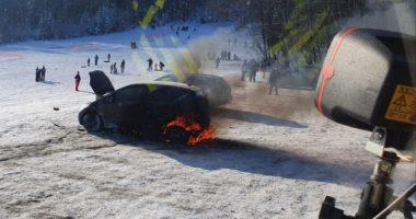 B2 – Fahrzeugbrand Rusel Parkplatz