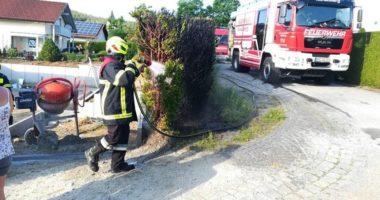 B1: Heckenbrand in Geiersthal