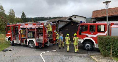B2 Brand im Freien – Gartenhütte, Schuppen